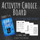 Activity Choice Board and Printables for Home, James