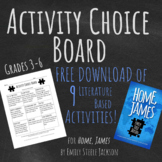 Activity Choice Board for Home, James