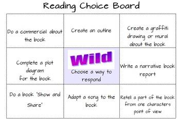 Activity Choice Boards - bundle