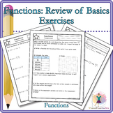 Review of Functions: Activity, Classwork and /or Homework