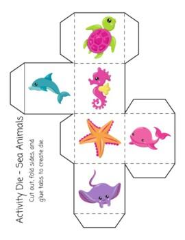 Activity Die - Sea Animals