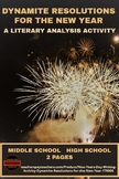 New Year's Day Writing Activity: Dynamite Resolutions for the New Year