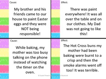 Activity Easter Cause and Effect Game for Reading Comprehension Literacy Centers