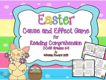 Activity Easter Cause and Effect Game for Reading Comprehe