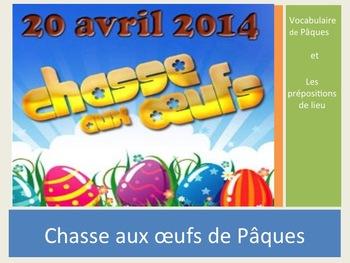 """Activity """"Egg hunt"""" for Easter / chasse aux oeufs à Pâques"""