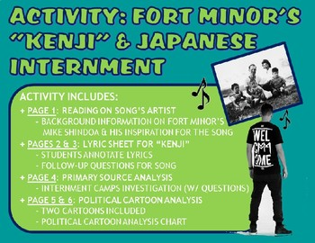 ese internment camps teaching resources teachers pay teachers  activity fort minor s kenji ese internment camps world