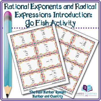 GO FISH Rational Exponents and Radical Expressions: Activity