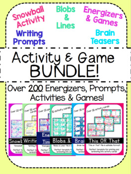 Activity & Game BUNDLE!
