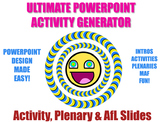 Activity Generator - Design Beautiful PowerPoints (Activities, Plenaries, AfL)
