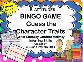 Activity Guess the Character Traits Bingo with IB Attitudes
