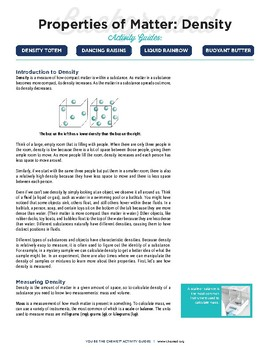 Activity Guides - Density (complete set)