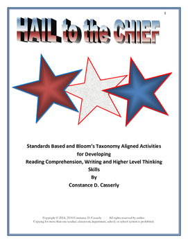 President's Day Comprehension & Writing Activity: Hail to the Chief