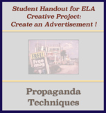 Activity Handout - Create Advertisement Using Propaganda Techniques