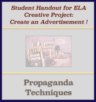 Activity Handout - Create Advertisement Using Propaganda Techniques