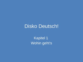 Activity Hour Engaging Power Point to supplement Deustch Aktuell 2 Kapitel 1A