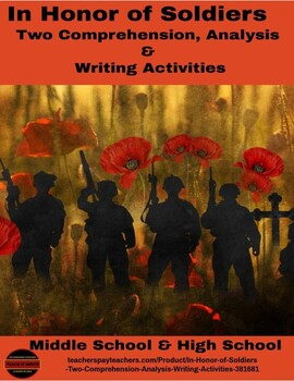 Veteran's & Memorial Day Reading Writing Project: In Honor of Soldiers-Every One