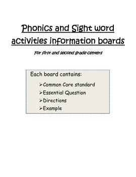 Activity Information Boards