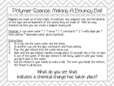 Activity Pack: Polymer Science Bouncy Ball Instruction Sheet