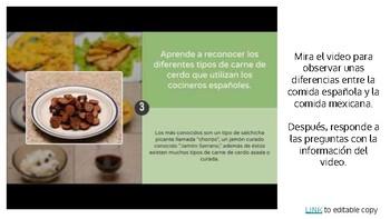 Activity-La comida mexicana vs. la comida española