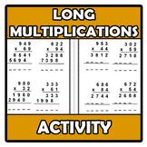 Worksheets - Long multiplications worksheets