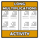 Activity - Long multiplications worksheets