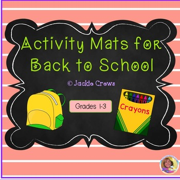 Activity Mats for Back to School