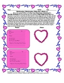 Valentine's Day Comprehension Activity: Matchmaker, Matchm