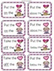 Activity Mats Following Directions with Positional Words Valentines
