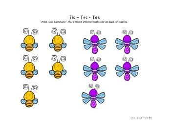 Activity Mats: Insect Tic-Tac-Toe