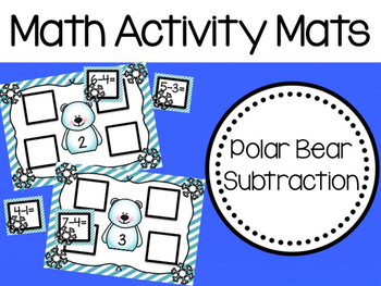 Math Activity Mats: Polar Bear Subtraction