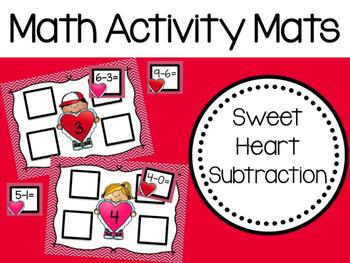 Math Activity Mats: Sweet Heart Subtraction