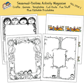 Activity Min-Mag SEASONAL-TIVITIES FALL I (Karen's Kids Printables)