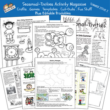 Activity Min-Mag SEASONAL-TIVITIES SUMMER I (Karen's Kids Printables)