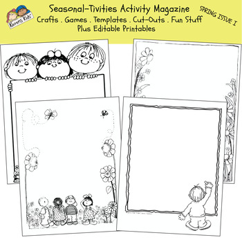 Activity Mini-Mag SEASONAL-TIVITIES Spring I (Karen's Kids Printables)