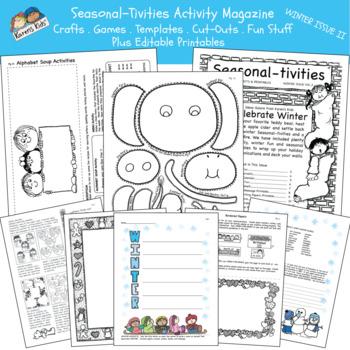 Activity Mini-Mag SEASONAL-TIVITIES Winter II  (Karen's Kids Printables)