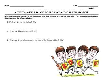 """Activity: Music Analysis - 1960s """"Rock and the British Invasion"""""""