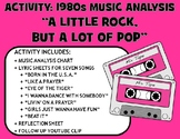 "Activity: Music Analysis - 1980s ""A Little Rock, But a Lot of Pop"""