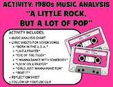 """Activity: Music Analysis - 1980s """"A Little Rock, But a Lot of Pop"""""""