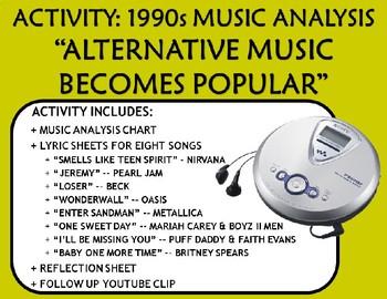 "Activity: Music Analysis - 1990s ""Alternative Music Becomes Popular"""