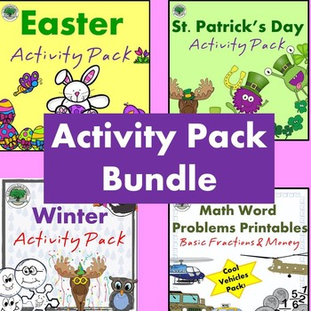 Activity Pack Bundle NO PREP Good for Sub Lessons