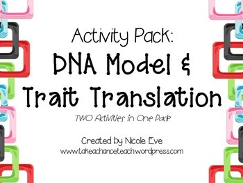 Activity Pack: DNA Marshmallow Model & Trait Translation Lab