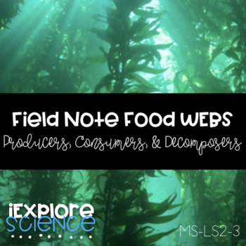 Field Notes Food Webs: Producers, Consumers, Decomposers (NGSS MS-LS2-3)