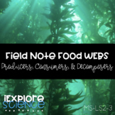 Field Notes Food Webs: Producers, Consumers, Decomposers (