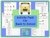 Activity Pack for Back to School