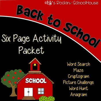 Activity Packet - Back to School!
