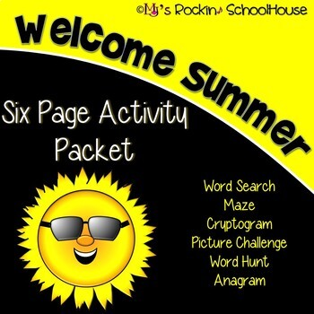 Activity Packet - End of School Year/Welcome Summer