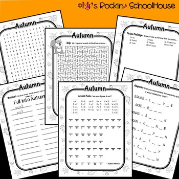 Activity Packet: Fall into Autumn