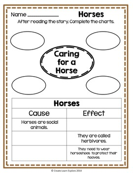 Activity Packet for Horses by Gail Gibbons