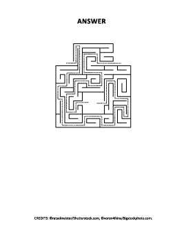 Activity Page with Puppies at the Maze, Non-Commercial Use