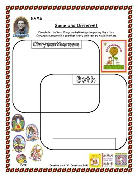 Activity Pages for the Book Chrysanthemum by Kevin Henkes